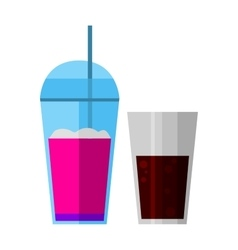 Smoothies drink glass vector image vector image
