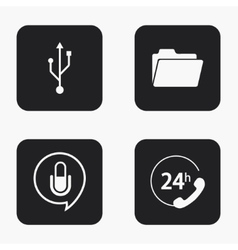 modern technology icons set vector image