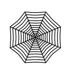Spider web icon vector