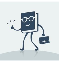 Symbol cheerful book vector image