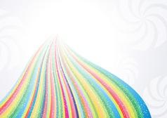 Abstract rainbow arrow banner vector image vector image