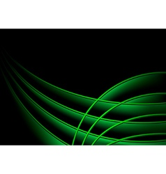 Background with Green 3D Layers vector image