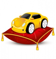 car on pillow vector image vector image