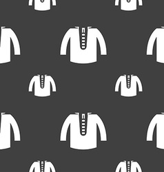 casual jacket icon sign Seamless pattern on a gray vector image vector image
