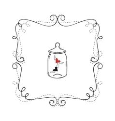 Frame Border Card vector image