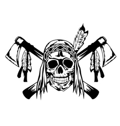 indian with tomahawk vector image vector image