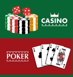 poker casino banner fortune gambling club vector image