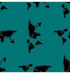 World map web icon flat design Seamless gray vector image