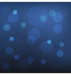 Abstract Blue Bokeh Background vector image vector image