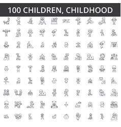 children childhood preschooler newborn kid vector image