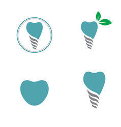 dental tooth logo set vector image vector image