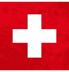 Switzerland flag with grunge texture vector image