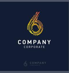 6 company logo design vector image