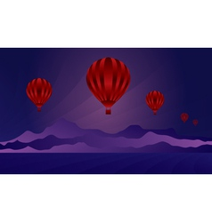 Air balloon in the evening sky vector image