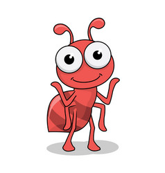 Ant cartoon cute insect animals image vector