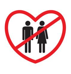 Anti-heterosexual icon vector