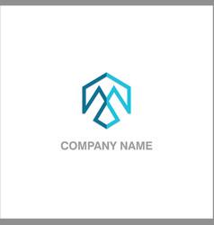 Arrow line design logo vector
