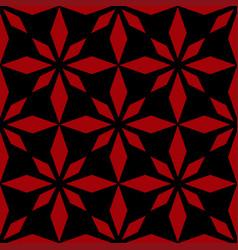 art abstract geometric dark red black pattern vector image