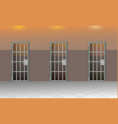 Background prison interior jail cells modern with vector