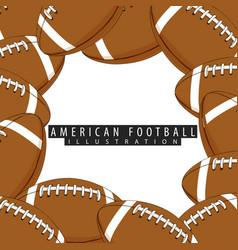 Balls for american football closeup vector
