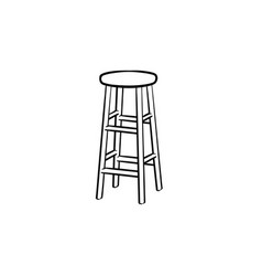 barstool hand drawn sketch icon vector image