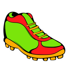 Baseball boot icon icon cartoon vector