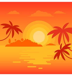 Beach sunset 2 vector