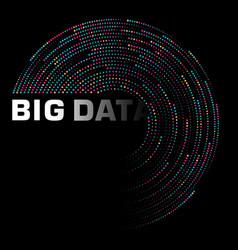 big data visualization dynamic radial cluster vector image