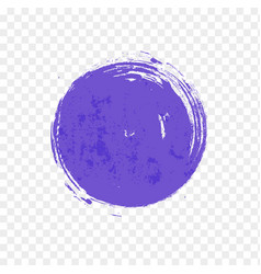 Big ultraviolet purple grunge circle on white vector