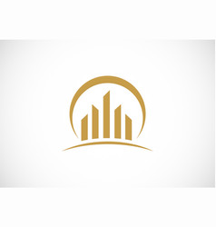 business finance construction logo vector image