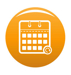 calendar mobile icon orange vector image