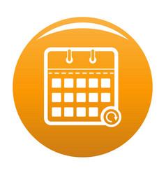 calendar mobile icon orange vector image