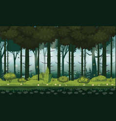 cartoon of background forest bright vector image