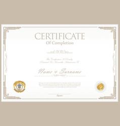 Certificate retro design template 03 vector