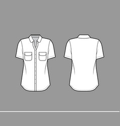 classic shirt technical fashion with vector image