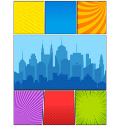 colorful comic composition vector image