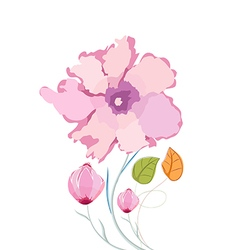 Colorful Poppy flowers watercolor vector image