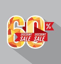 Discount 60 Percent Off vector image