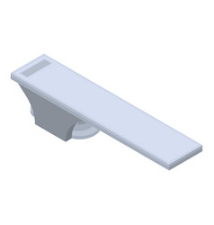 Diving board icon isometric style vector