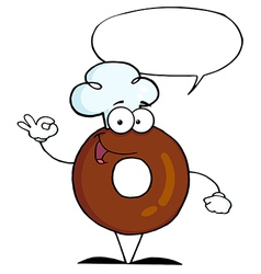 Donut cartoon vector