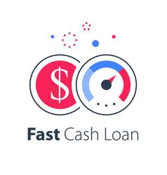 Fast cash loan more money financial solution vector