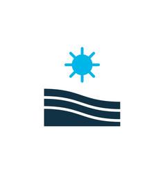 Field icon colored symbol premium quality vector