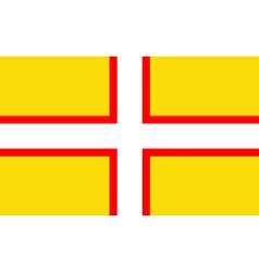 Flag of Dorset vector
