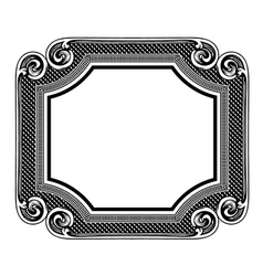 Floral label frame 5 vector