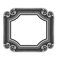 Floral label frame 5 vector image