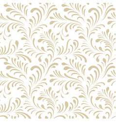 floral seamless pattern with abstract shaped vector image