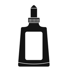 glue bottle icon simple style vector image