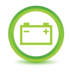 Green Accumulator icon vector