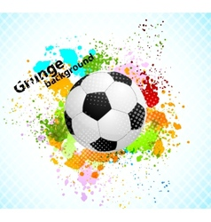 Grunge background with ball vector