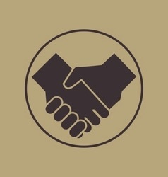 handshake icon vintage style vector image